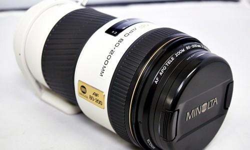 ミノルタのカメラレンズ「AF APO TELE 80-200mm F2.8」買取実績