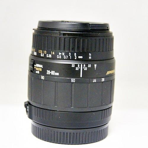 シグマのカメラレンズ「28-80mm 1:3.5-5.6 MACRO」買取実績