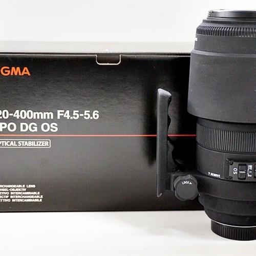 シグマのカメラレンズ「APO DG OS 120-400mm F4.5-5.6」買取実績