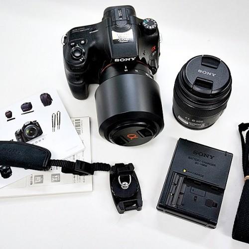 ソニーのデジタル一眼レフカメラ「α57 SLT-A57Y ダブルレンズキット」買取実績