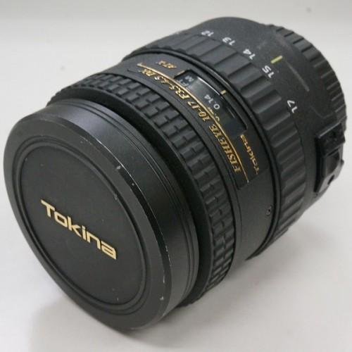 トキナーのレンズ「AT-X 107 DX Fisheye(10-17mm F3.5-4.5DX)」買取実績