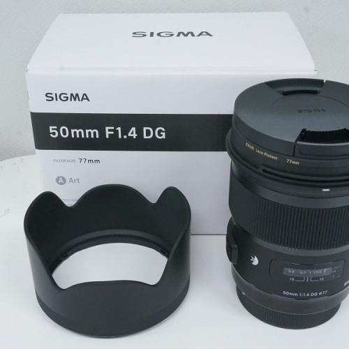 シグマのレンズ「50mm F1.4 DG HSM Art」買取実績