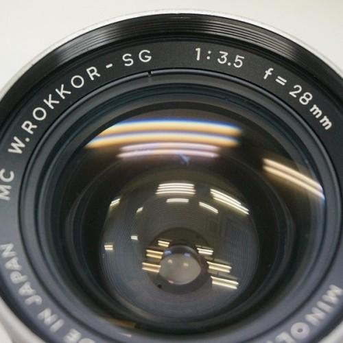 ミノルタのレンズ「MC W.ROKKOR-SG 28mm F3.5」買取実績