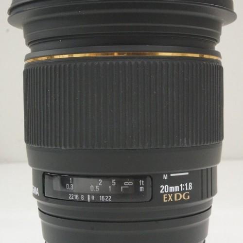 シグマのレンズ「20mm F1.8 EX DG ASPHERICAL RF」買取実績