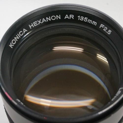 コニカのレンズ「HEXANON AR 135mm F2.5」買取実績