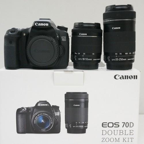 キャノンのデジタル一眼レフカメラ「EOS 70D ダブルズームキット」買取実績