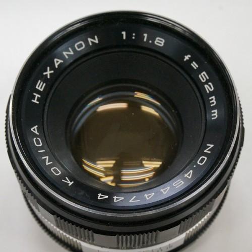 コニカのレンズ「HEXANON 52mm F1.8」買取実績