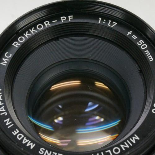 ミノルタのレンズ「MC ROKKOR-PF 50mm F1.7」買取実績