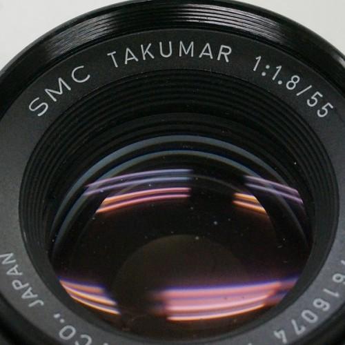 ペンタックスのレンズ「SMC TAKUMAR 55mm F1.8 M42 」買取実績