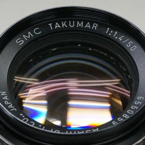 ペンタックスのレンズ「SMC TAKUMAR 50mm F1.4 M42」買取実績