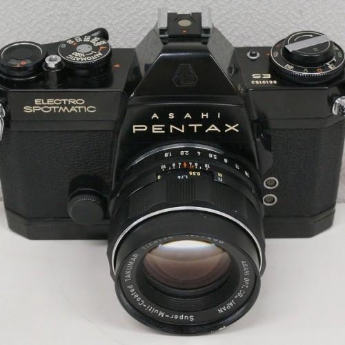 ペンタックスのフィルム一眼レフカメラ「ELECTRO SPOTMATIC 55mm F1.8」買取実績