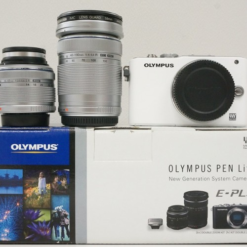 オリンパスのミラーレスカメラ「PEN Lite E-PL3 ダブルズームキット」買取実績