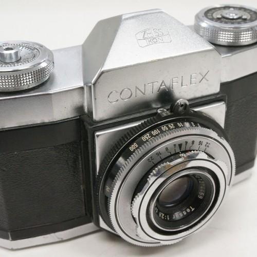 ツァイスイコンのフィルム一眼レフカメラ「CONTAFLEX  Tessar 45mm F2.8」買取実績