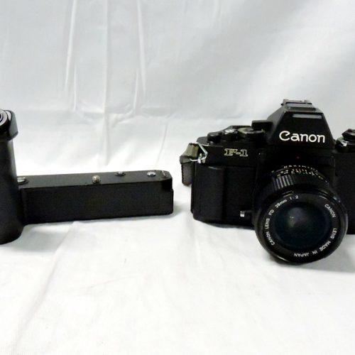 カメラ買取実績紹介「キャノン(CANON) NEW F-1 SN 111725 + NEW FD 28mm F2 曇り+ AEWINDER FN+New FD 100-300mm F5.6」