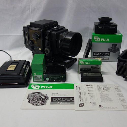 カメラ買取実績紹介「FUJI(富士フィルム) GX680 + EBC FUJINON 125mm 1:3.2 ホルダー、可動ファインダー、シェード等付属」