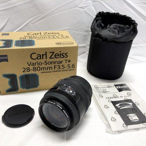 カメラ買取実績紹介「CONTAX コンタックス Carl Zeiss Vario-Sonnar T* 28-80mm F3.5-5.6 ズームレンズ」