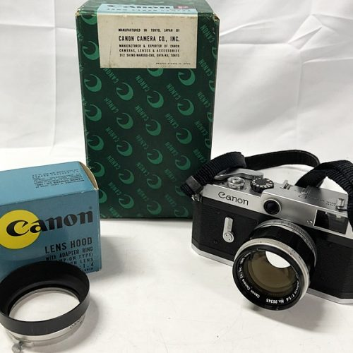 カメラ買取実績紹介「Canon キャノン Pボディ ポピュレール SN769282+ 50mm F1.4 Lマウント 」