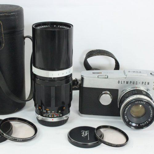 カメラ買取実績紹介「OLYMPUS オリンパス PEN-F F.ZUIKO Auto-S 38mm F1.8/E.ZUIKO Auto-T 150mm F4」