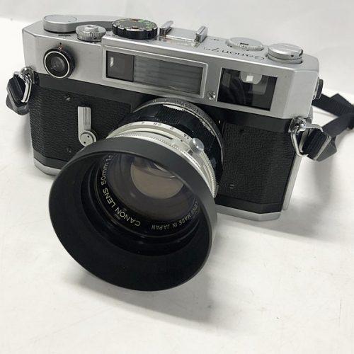 カメラ買取実績紹介「Canon キャノン 7sボディ + 50mm F1.4 Lマウント レンズ内割れ有り」
