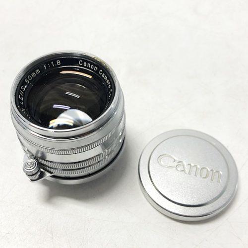 カメラ買取実績紹介「Canon キャノン 50mm F1.8 Lマウント シルバー」