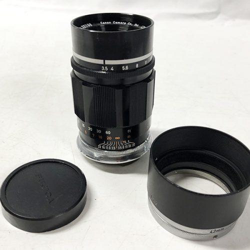 カメラ買取実績紹介「Canon キャノン 100mm F3.5 Lマウント メタルフード付属」